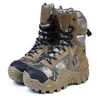 Wholesale Military Boot Male - Wholesale-Military Tactical Boots Desert Combat Outdoor Army Hiking Travel Boots Leather Autumn Ankle Male Boots EUR Size 39-45