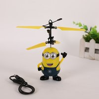 RC Helicopter Ball Vol Induction Despicable Me Drone Capteur Suspension Télécommande Avion pour Enfants Cadeau De Noël Sans Emballage D'origine