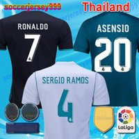 Wholesale Cheap Thailand Jerseys - Top thailand AAA cheap 2017 2018 Real Madrid Soccer Jerseys 17 18 Football Shirts RONALDO home Blue white Camisetas uniforms ISCO Bale
