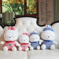 Wholesale Rabbit Navy - Quality Goods Navy Lint Toys Rogue Rabbit Doll Lovely Lovers Cony Birthday Gift Lint A Doll