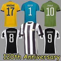 5b0790e3dc4 AAA Thai quality 120TH ANNIVERSARY Jersey DYBALA MATUIDI Soccer Jerseys  2017 2018 MARCHISIO HIGUAIN D. Costa MANDZUKIC Football shirt Custom ...