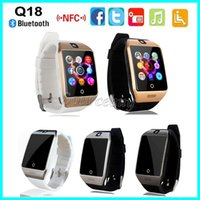 Wholesale Cheap Phone For Kids - New Q18 Cheap Smart Watch with Touch Screen Camera SIM TF Card Bluetooth NFC Wireless Connect Smartwatch for Android IOS Phone Free shipping