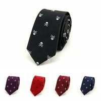 Wholesale Gray Silk Suits For Men - High Quality Men's Tie 6 Colors 6*145cm NeckTie Paisley Silk Mens Tie Printed Suit Ties Wedding Business & Bridegroom Neck Ties For Men