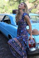 Wholesale New Bohemia Beach Casual Dress - hot new fashuion women dresses summer 2017 Bohemia long Beach maxi dresses floral print cotton sexy robe backless boho hippie chic vestidos