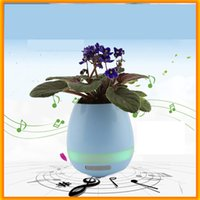 Wholesale wireless induction speakers - New Bluetooth Speaker Smart Colorful Piano Music Flower Pot Touch Induction Creative Gift Indoor Green Plant Music Potted Plant