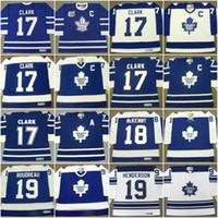 Wholesale Belfour Jersey - Toronto Maple Leafs Jersey 17 WENDEL CLARK 1991 20 BOB PULFORD 20 ED BELFOUR 19 PAUL HENDERSON Custom Vintage Throwback Hockey Jerseys