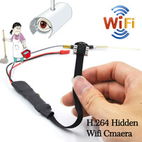 Wholesale Wireless Digital Spy Camera - 1080P HD LED lights IR Night Vision Micro Wireless Nanny Camera WIFI IP hidden Spy Mini Camera Module Digital Video Camera Micro DVR