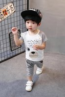 Wholesale Men S Neck Piece - Children's suit in the summer of 2017 the new model of leisure baby short sleeve shorts for men and women children of the 1-2-3-4 years old