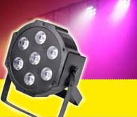 Wholesale Channel Business - Hot 7x 9W RGB DMX Stage Lights Business Lights Led Flat Par High Power Light with Professional for Party Disco DJ EU US LLFA