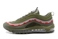 ingrosso scarpa da running nero verde-Uomo imbattuto UNDFTD 97 verde scarpe da corsa argento metallizzato pallottola d'oro triplo bianco nero sportivo sneakers 40-45