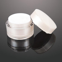 Wholesale Acrylic Plastic Products - 15G 30g 50g Cosmetic Empty Jar Pot Eyeshadow Makeup Face Cream Container Bottle Acrylic for Creams Skin Care Products makeup tool F2017504
