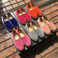 Wholesale Espadrilles Flats - BAOYU All season comfortable suede leather Espadrilles fashion woman's slip-on loafers EU35-EU41 size flat shoes