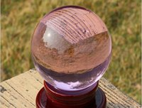 Hot Enorme 100mm PINK Magic Crystal Healing Ball Sphere + Stand grátis