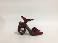 Wholesale Sandal Red Wine - Fashion design hollow heel women sandal shoes wine red suede leather hihg heel pumps buckle leather shoes