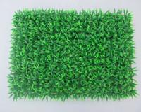 ingrosso recinzione in plastica-60 cm * 40 cm erba artificiale plastica bosso stuoia tappeto erboso prato verde erba decorativa esterna SGS UV prova falso edera recinzione Bush home decor