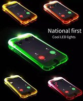 Wholesale Trends Mobile Phone Case - Mobile phone shell Apple series of anti - flash flashing phone shell 6s trend flash flashing phone sets 5se new new.