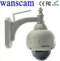 Wholesale Wanscam Ptz Ip Camera - PTZ Dome outdoor Wanscam 1280*720P WiFi Bullet IP Camera IR Cut 1.0MP Outdoor Security ONVIF H.264 P2P ip camera