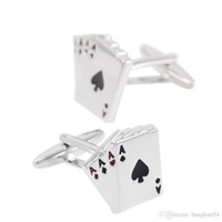 Wholesale Popular Poker - Free Shipping-Europe's most popular Interesting personality poker four A cufflink shape
