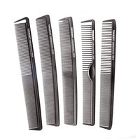 Wholesale Comb Hair Carbon - tyling Tools Combs Carbon Hair Comb 9 pcs Lot Black hair Cutting Combs Set, Hair Tail Comb in Different Design For Professional Usage, T&...