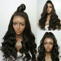 Wholesale Virgin Human Wigs - 9A Pre Plucked Natural Hairline Full Lace Wigs For Black Women Loose Wave Brazilian Virgin Human Hair Lace Front Wigs With Baby Hair