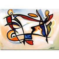 pinturas a óleo venda por atacado-Arte abstrata moderna Alfred Gockel pinturas a óleo Canvas Eyes no céu pintados à mão decoração da parede