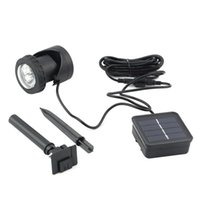6LED IP68 nivel impermeable Solar Powered LED Spotlight jardín piscina estanque al aire libre Solar Spot Light lámpara