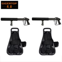 Wholesale guns co2 - Manufacturer Wholesale Co2 Gun With Back pack Support Nightclub Dj Mobile Mini Manual CO2 Sprayer Jet Freezing Carbon dioxide co2 jet column
