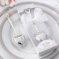 Wholesale Teatime Heart Tea Infuser - Free shipping wedding favor gift Tea Time Stainless Steel Heart shaped Tea Infuser in Teatime Gift Box WA2022
