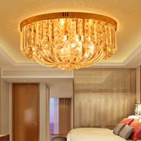 lmparas de techo de cristal modernas de led lmpara de techo de cristal de oro de iluminacin para interiores lmpara de techo de iluminacin ac v v