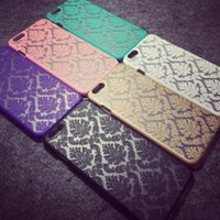 Wholesale Lace Cut Out Paper - Phone Case For iphone 6 Plus iPhone 6 Plus Hollow Out Lace Paper Cut Vintage Flower Pattern Fashion Luxury Back Cover Coque iphone7