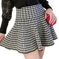 Wholesale Natural Waist Ball Gowns - Singwing Autumn Winter Women's Stretch Natural Waist Plain Skater Flared Pleated Skirts Women Casual Ball Gown Short Skirt