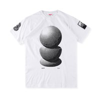 Wholesale Mechanic T Shirts - Fashion Europe Holland box logo MC ESCHER Three Spheres Tee Collaboration artist Mechanics summer Skateboard tshirt Men Women Street t-shirt