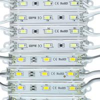 mavi led ışık modülleri toptan satış-LED ışık modülü, su geçirmez superbright SMD5630 LED ışık modülü, Soğuk Beyaz / Sıcak Beyaz / Kırmızı / Sarı / Mavi / Yeşil, DC12