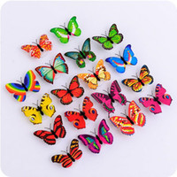 Wholesale wall decor butterfly blue for sale - 3D LED Glowing Butterfly Wall Stickers Decals For Kids Room Living Room Home Decor Stickers Home Decoration Gifts With Box F2017741