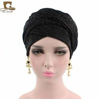 Wholesale Wholesale Scarf Tubes - 2017 new spring style turban breathable mesh shimmer long scarf head wrap women hijab tube head scarf tie