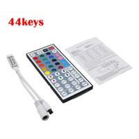 Wholesale Controler 24v - DC12V 6A 44 Key   24 Key Mini LED IR RGB Controler For RGB LED Strip LED Lights Controller IR Remote Dimmer