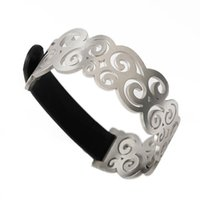 Wholesale Unique Bracelet Designs - TL stainless and leather PU bracelet unique design for women never fade special edition 2017 new