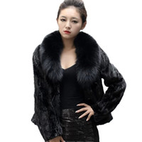 Wholesale New Arrival Women Winter Coat - New Arrival Women Fur Coat 2017 Autumn Winter Ladies Faux Fur Jackets High Quality Fox Fur Collar Fashion Outerwear Warm Coat CT016