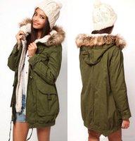 Wholesale Cheap Casual Jackets Men - 2016 Winter Cheap Faux Fur Fall Winter New Arm Green Women Men Jackets Casual Cardigan Jacket Outwear Hooded Thick Warm Coats FS0704