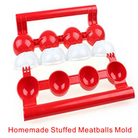 Wholesale Fall Foods - High Quality Food Grade Plastic Meatballs Maker Newbie Meatballs Maker Processing Machines Kitchen Gadget Fall In Love With The Kitchen.