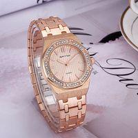 yeni saat tasarımları toptan satış-Toptan 2017 Yeni Moda Lüks Tasarım Kadınlar Bayanlar Için Paslanmaz Çelik Kuvars İzle Femme Montre Saat Relojes De Marca Kol Saati