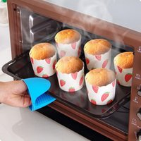 ECO Friendly oven mitten wholesale - Multi insulated Cooking Non slip Silicone Glove Dish Clip Taken Against Hot kitchen Microwave Oven lagging Mitten Clips