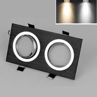 focos reflectores led para el hogar. al por mayor-Venta de fábrica 10w cuadrado led spotlight de techo regulable 2 * 10w 3 * 10w led down lights para el hogar 160Angle 90-260v blanco frío caliente