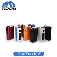Wholesale E Cigarette Evic - Original Joyetech Evic Vtwo 80W Battery Temperature Control E Cigarette Box Mod with 5000mah Built In Lipo