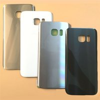Wholesale Door Glass Sticker - Samsung Galaxy S7 G930 S7 Edge G935 Glass Battery Door Housing Back Cover Case&Logo+Sticker, battery cover free shipping DHL
