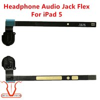 Wholesale Earphones Wifi - Headphone Jack Audio Earphone Flex Cable Ribbon Replacement For iPad Air iPad 5 Black White Colour Wifi and 4G Version DHL Free Shipping