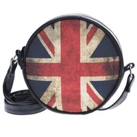 Wholesale Travel Bags British Flag - Wholesale- British flag 3D Printing Round PU leather messenger bags Zohra 2016 Fashion New Hot travel Mini bolsas feminina crossbody bag