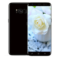 Wholesale Quad Frames - Goophone s8 S8 plus 6.2inch Cell Phones 1G 4G Quad Core Mtk6580 fake 4G LTE show 128G 3G WCDMA Metal Frame GPS