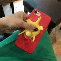 Wholesale Egg Squishy - Funny Chick Cartoon Cute Eggs Soft Squishy 3D Cute Kawaii Phone Squeeze Cover Phone Case Bag for Iphone 6 6s Plus 7 7Plus