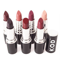 Wholesale high quality lip stick waterproof resale online - HOT High Quality colors Brand KOD Matte Lipstick Moisturizer Waterproof Nude lip stick lipgloss DHL